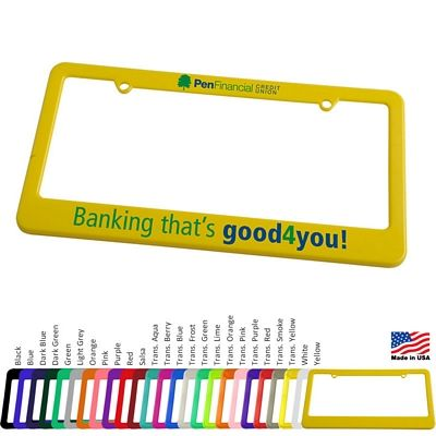 Customized License Plate Frame 2 Holes With Straight Bottom Promotional License Plate Frame 2 Holes With Straight Bottom Promotional License Plate Frames License Plate Frames License Plate Light In The Dark