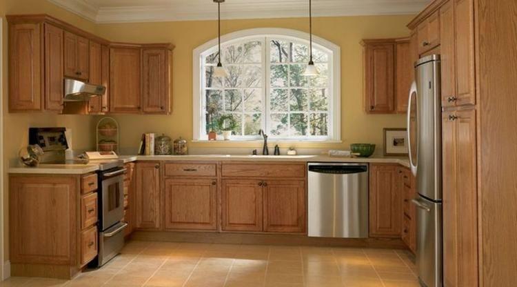 30 Inspiring Kitchen Paint Colors Ideas With Oak Cabinet Con