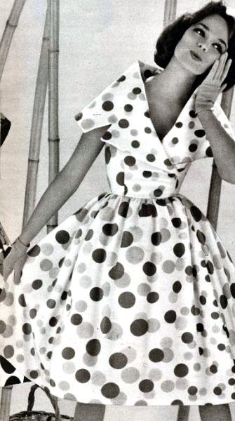 Polka Dot Dress 1960 Polka Dress Vintage Fashion Fashion
