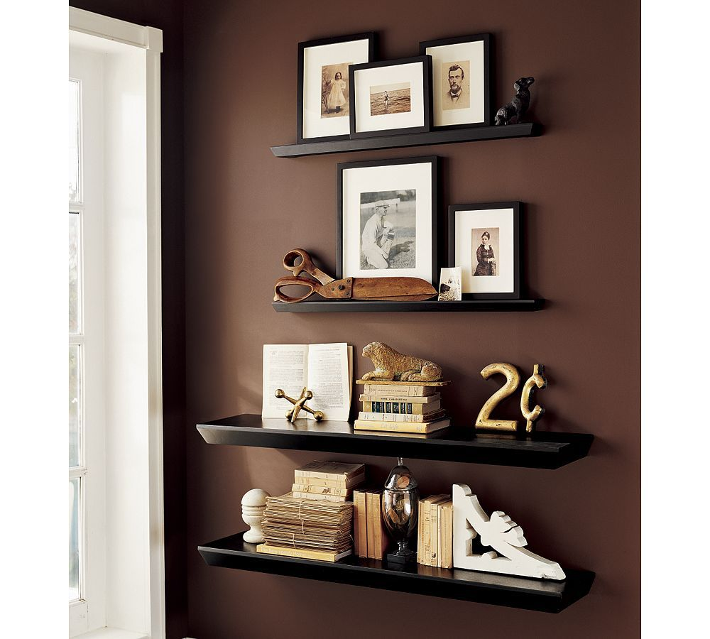 1000 images about decorating bookcases and shelves on pinterest - Wall Floating Shelves Decor Would Be Cute Between Windows In Master