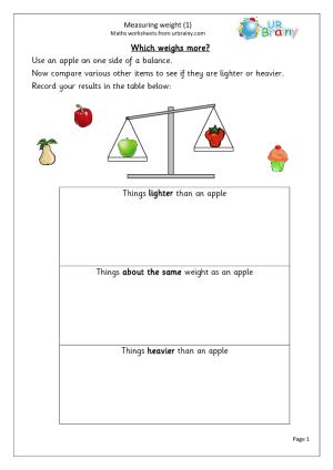 mass measurement activities for grade 1 google search. Black Bedroom Furniture Sets. Home Design Ideas