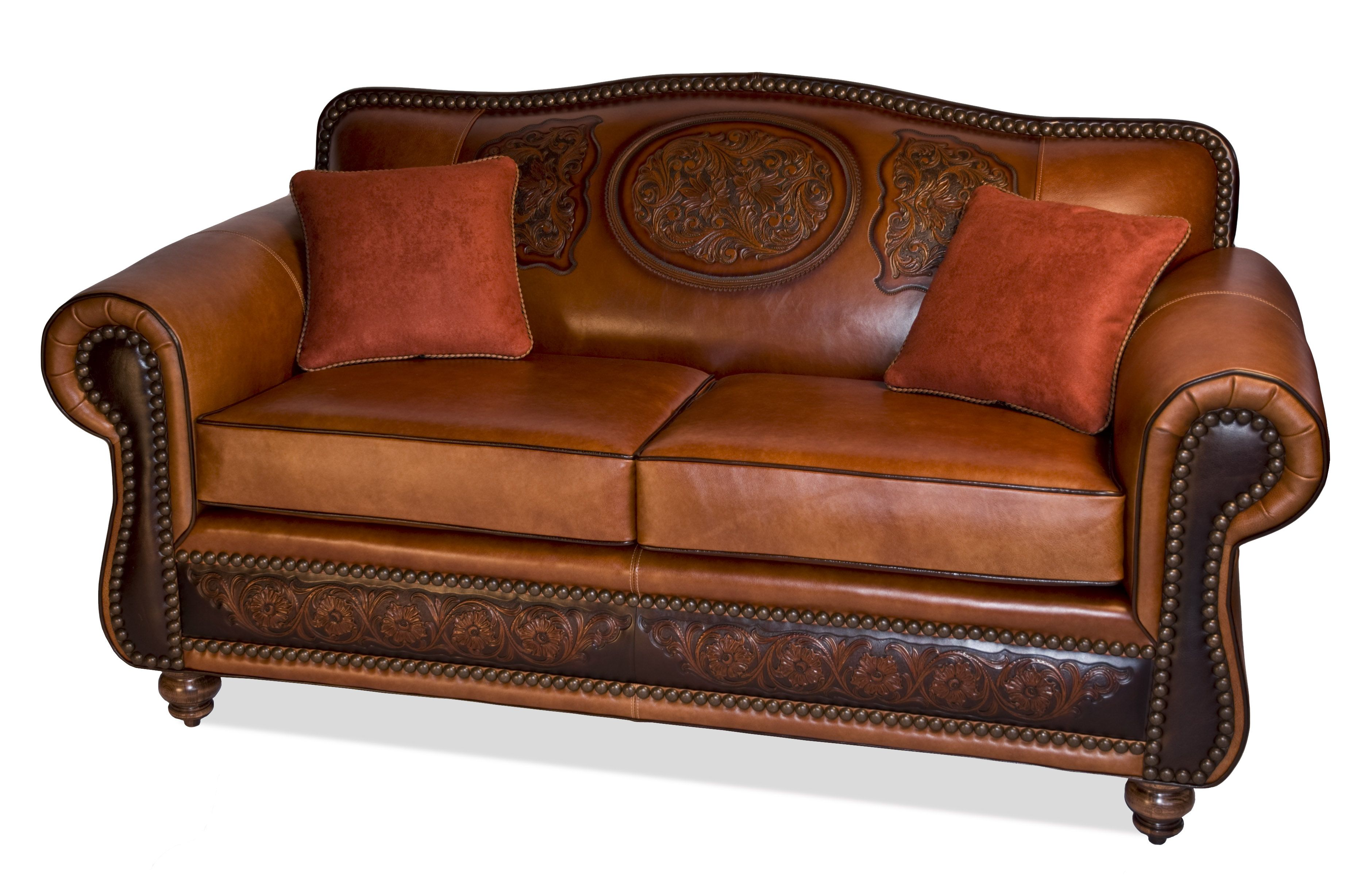 Attractive Cadillac Tight Back Love Seat With Tooling