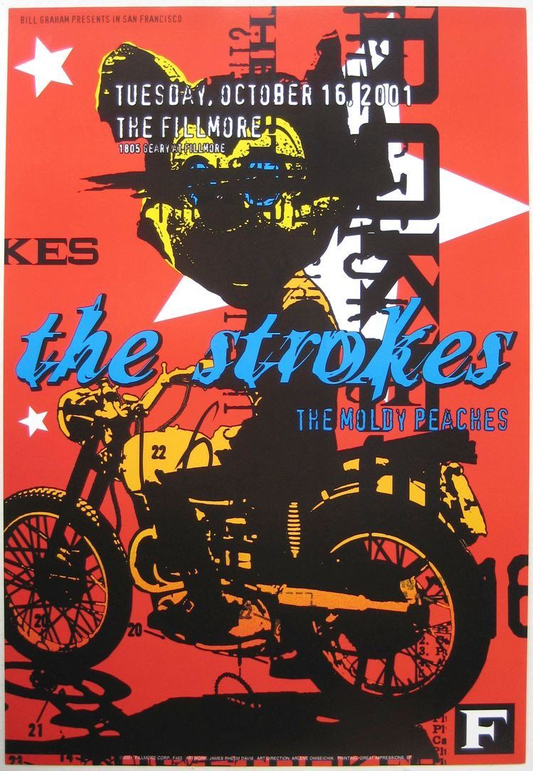 the strokes poster the strokes band