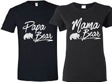 561d66515a8 Texas Tees Matching Papa Bear   Mama Bear T-Shirts For Couple ...