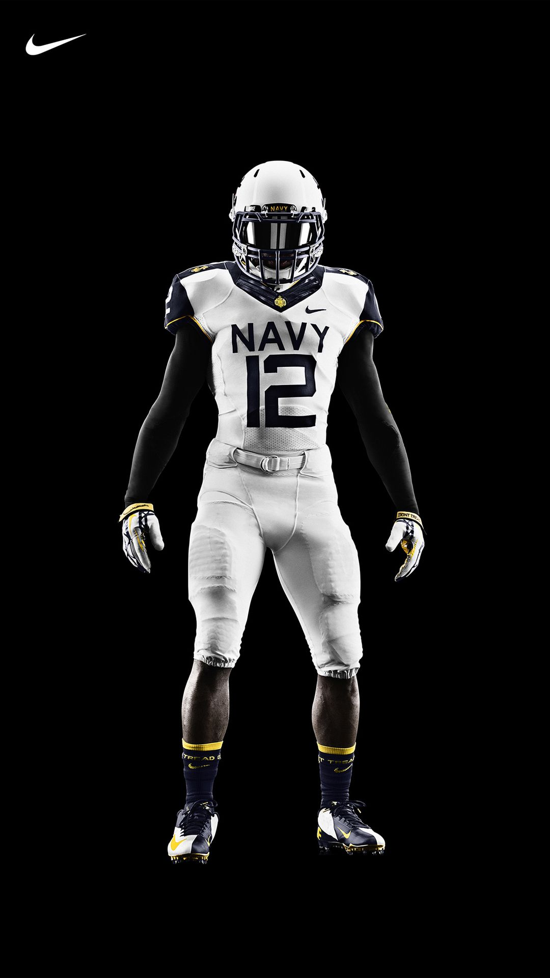 Nfl Sick Football Wallpaper Iphone Navy Football Football Uniforms Nike Football