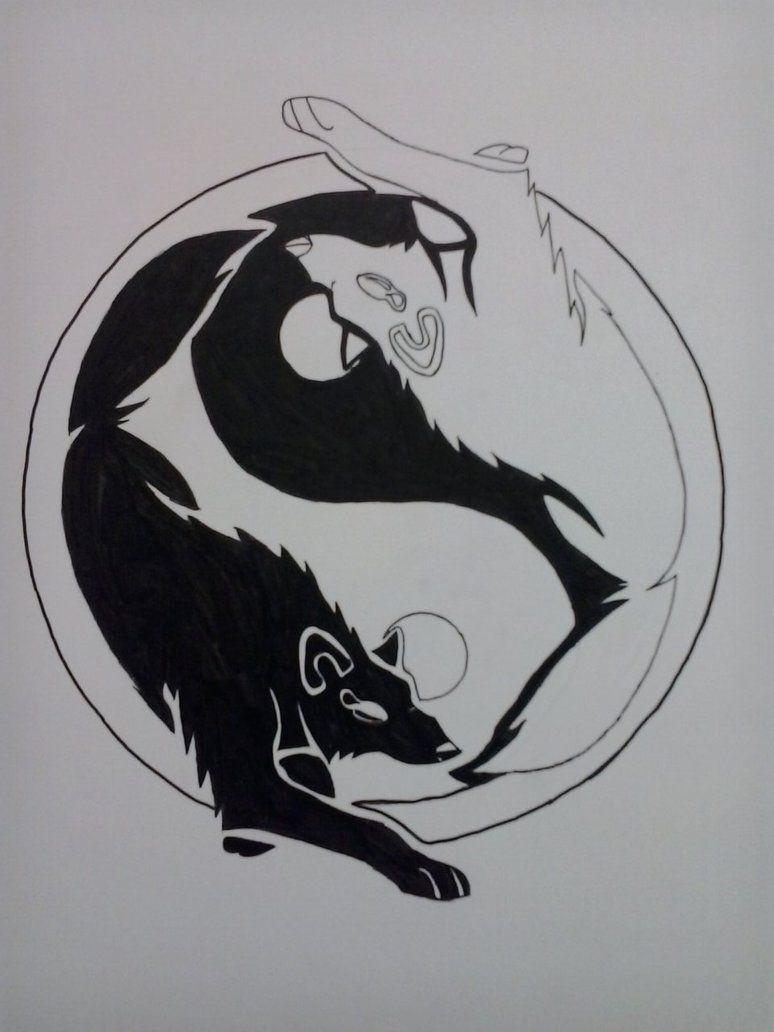 acc1e430d7ef7 Tattoo Drawings · yin_yang_wolf_by_summerwolfdreams-d5kdjvs.jpg (774×1032) Yin  Yang Wolf, Yin Yang