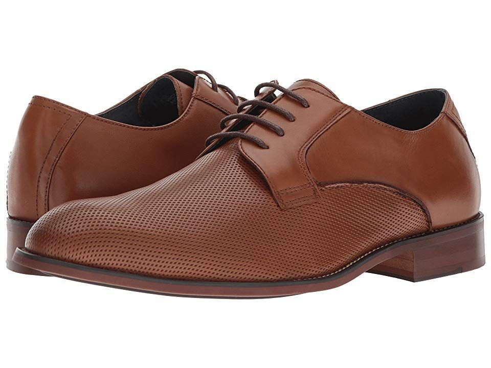 Steve Madden Hicksin Tan Mens Shoes Rev up your dapper style with the classic Steve Madden Hicksin derby Perforated leather upper with smooth heel counter Traditional lac...
