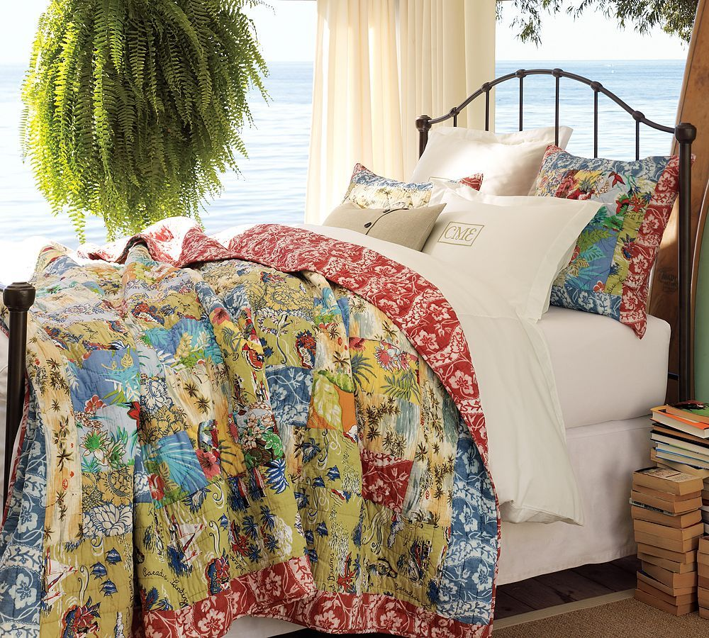 Island Patchwork Quilt By Pottery Barn For My Vintage