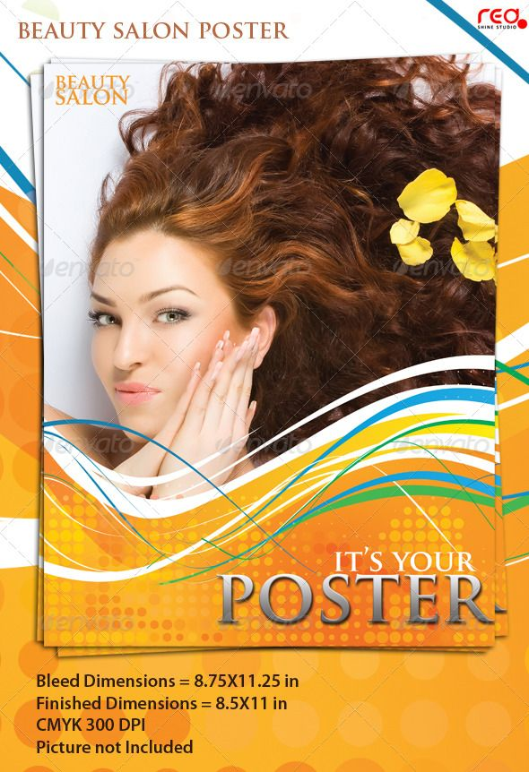 Beauty Salon Poster\/Flyer Template Flyer template, Template and - hair salon flyer template