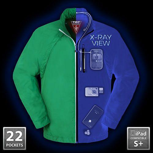 SeV Tropiformer Jacket - excellent for travelers. Up to 37 hidden pockets.