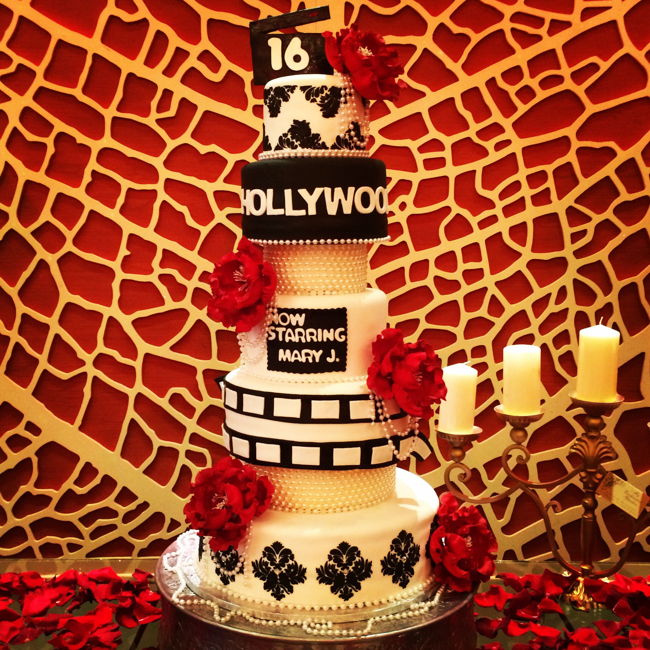 Old Hollywood Themed Sweet 16 Cake By Me My Work