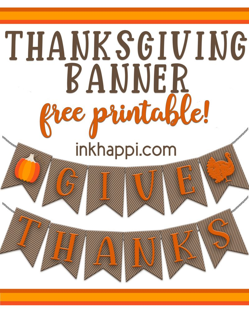null Free Printable Thanksgiving Banners for decorating