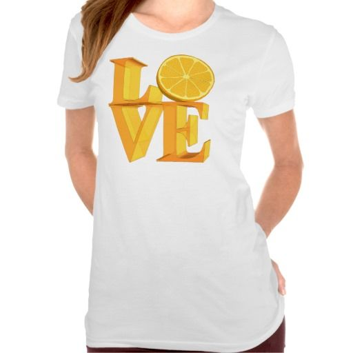 I LOVE ORANGE(TANGERINE/MANDARIN) TEE SHIRT