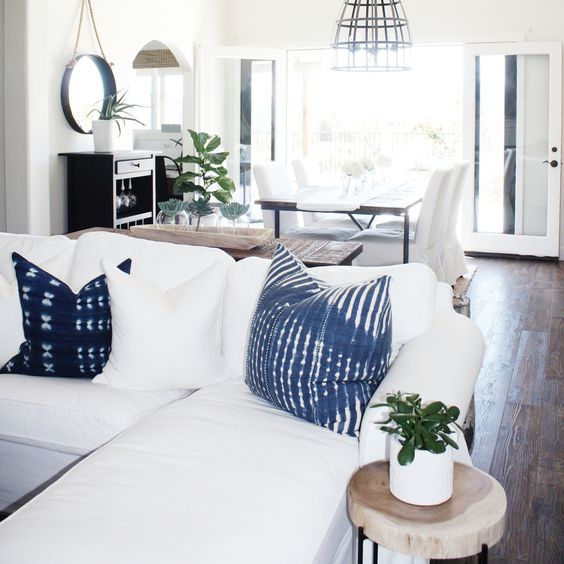 indigo pillows | just like home | Pinterest | Pillows and House