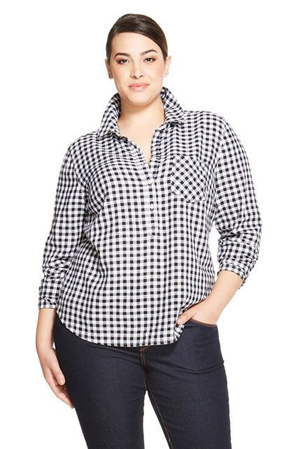 bebc490f218 If you're busty, you may think button-up shirts are a lost cause, but there  are a few brands that work.