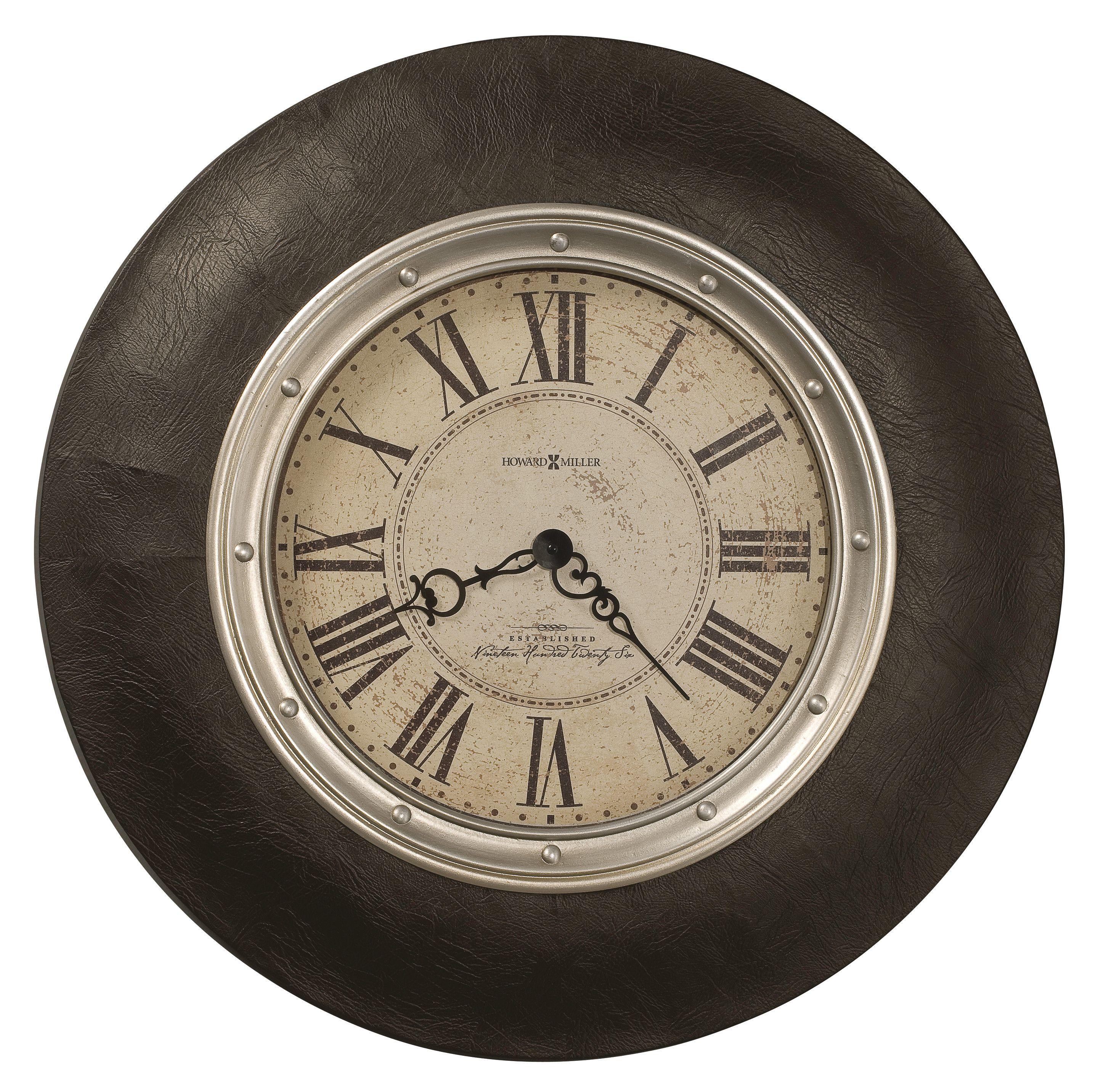 """Allen Park This 32"""" diameter oversized wall clock is wrapped in"""