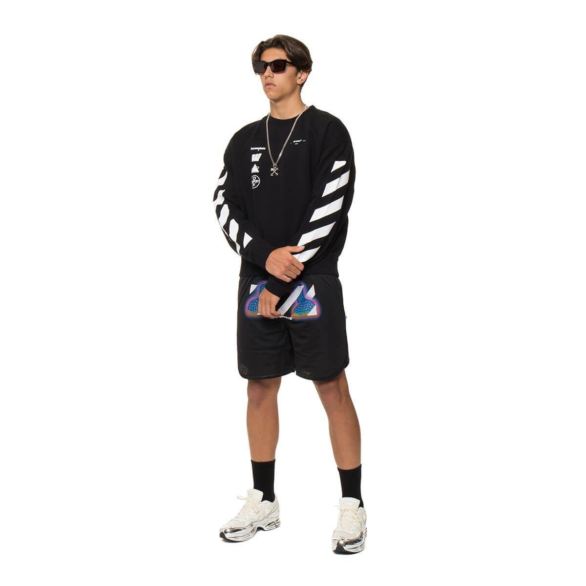 Off White Diag Mariana De Silva Sweatshirt In Black Modesens [ 1200 x 1200 Pixel ]