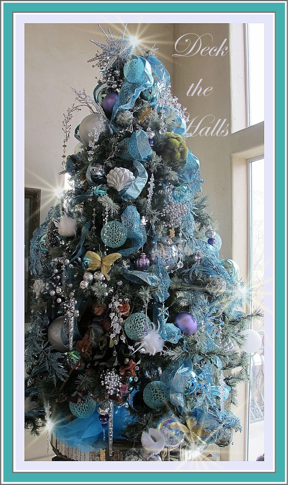 How To String Lights On A Christmas Tree Paper Doilies Over Burlap White String Lights Christmas Trees Made