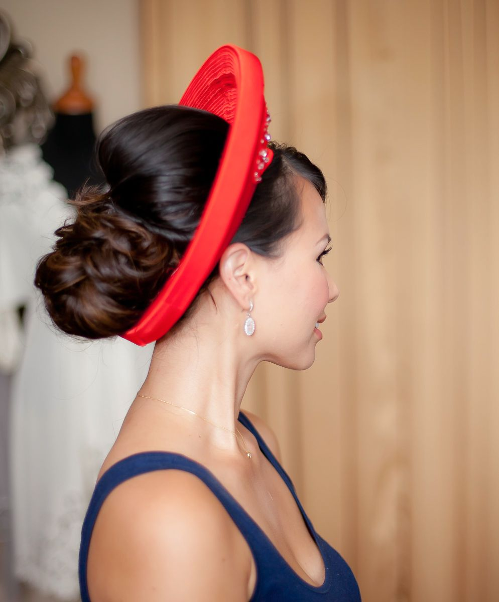 up do for vietnamese hat | makeup/ hair trial | hairdo