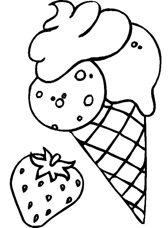 Ice Cream Coloring Pages for Free Download http://procoloring.com ...