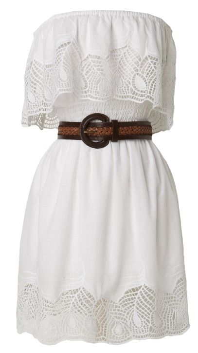 Stunning Strapless #Summer Dress.  This would be super cute with my cowboy boots!!