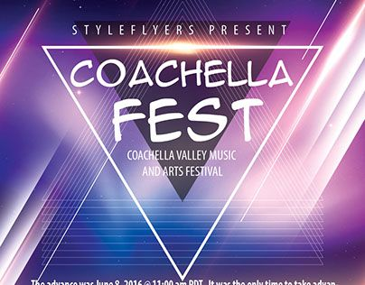 Coachella Festiva FREE PSD Flyer Template Free Download