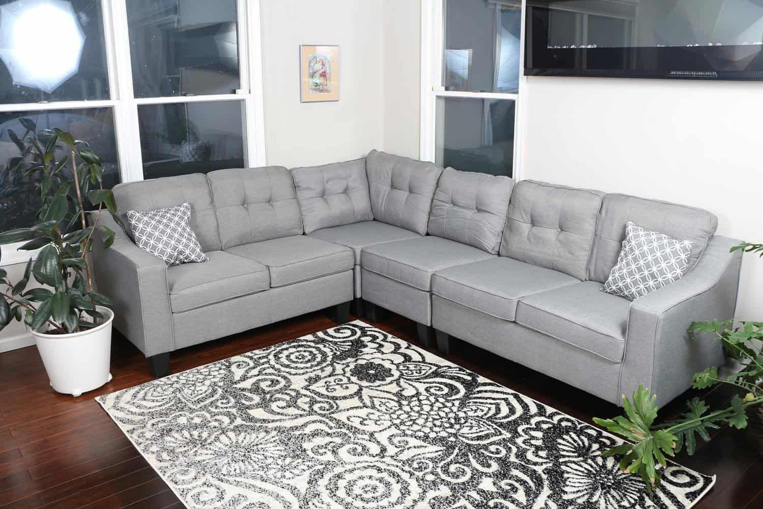 10 Cheap Sectionals Under 1000 In Gray Making Manzanita Sectional Sofas Living Room Modern Sofa Living Room Fabric Sectional Sofas