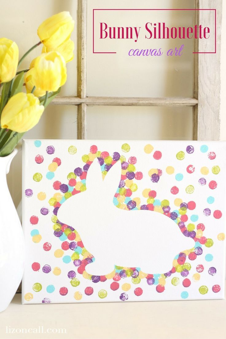 Photo of Easter Bunny Canvas Art — Liz on Call