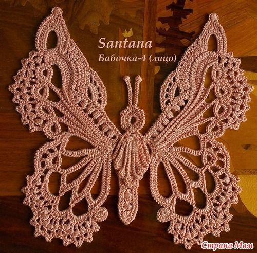 Crochet desde El Tabo. Muchas mariposas | Schmetterling | Pinterest ...
