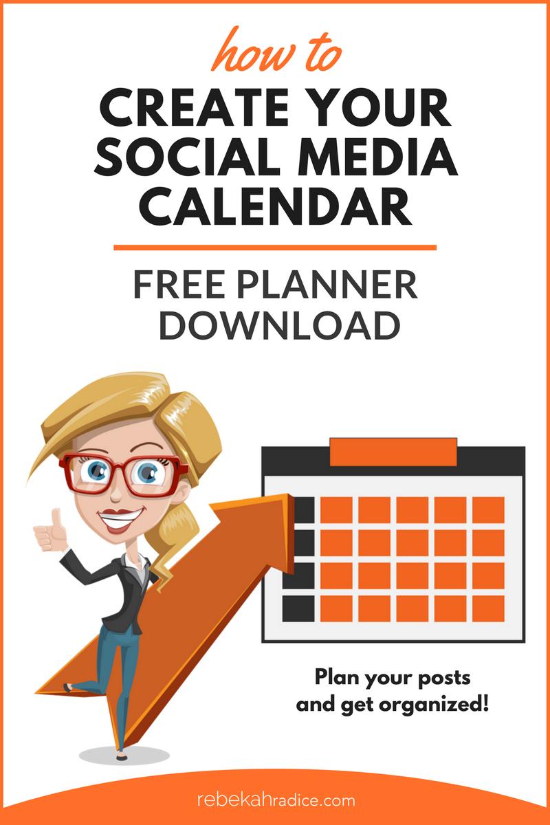 Social Media Calendar Template  Social Media Content Media