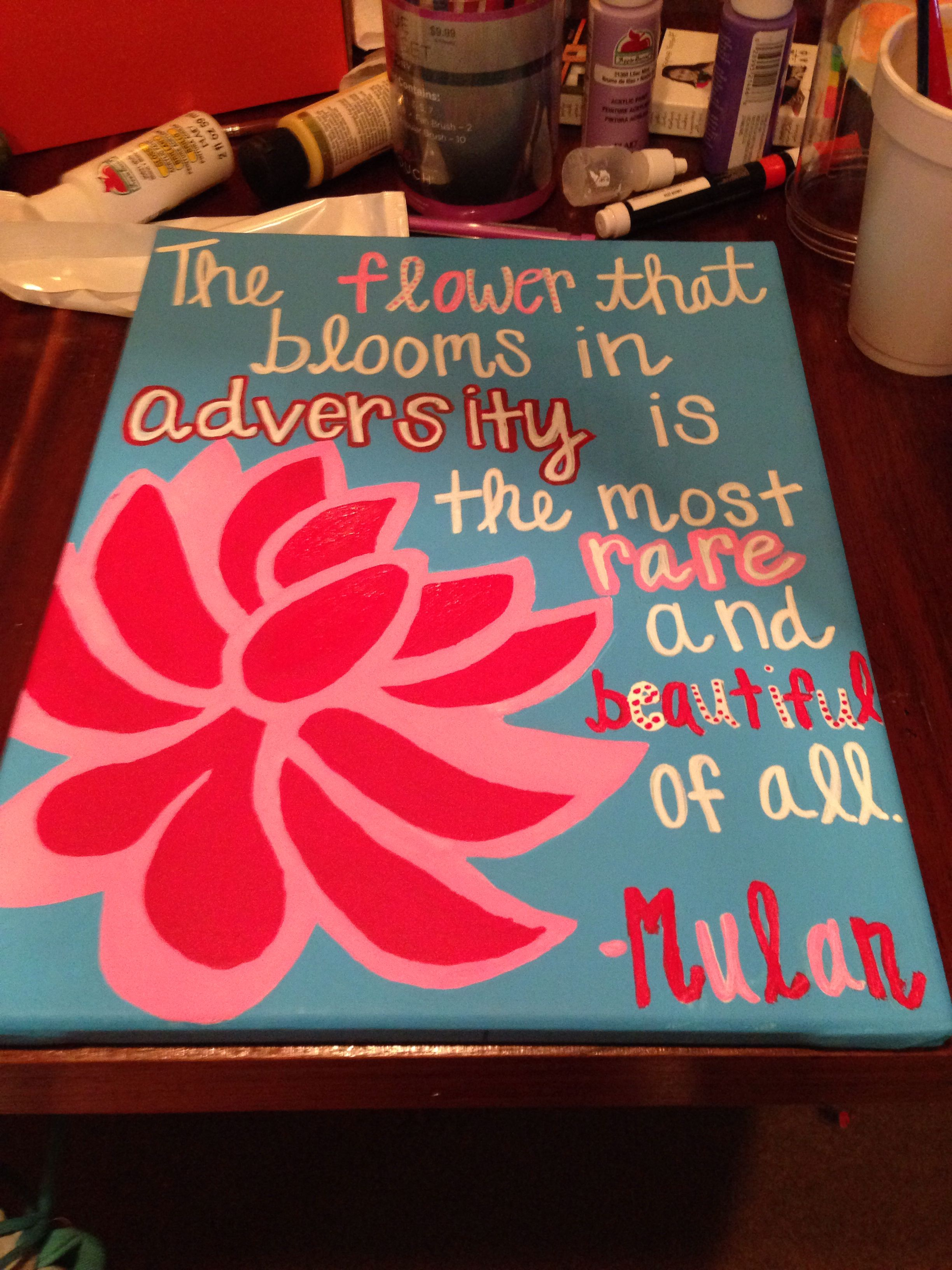 Mulan canvas painting Disney Mulan canvas painting