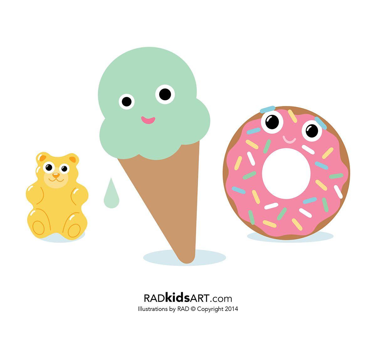Gummi Bear Ice Cream Donut Radkidsart