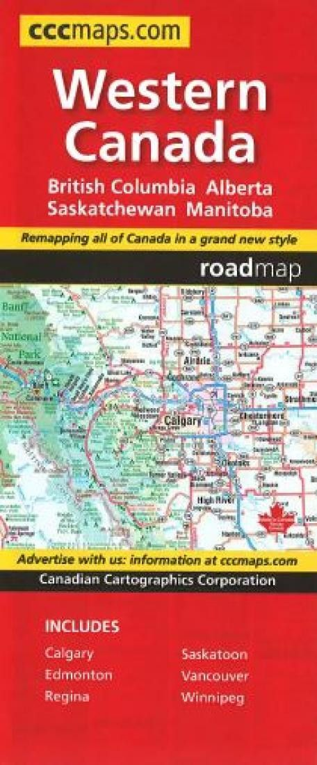 Western Canada Map By Canadian Cartographics Corporation Products - Map of western canada and us