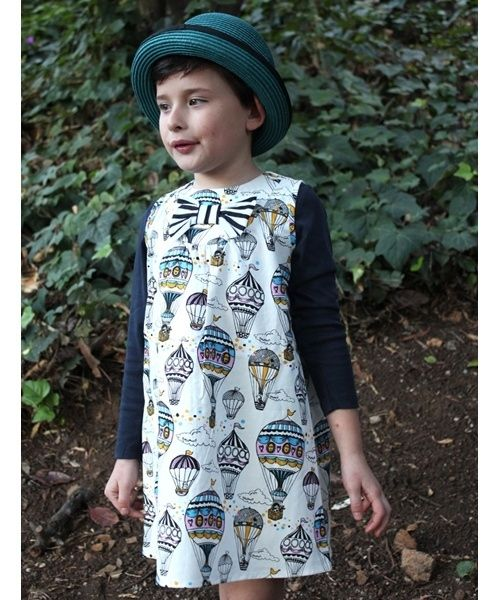 38d92ddfaec60 Hot Air Balloon Print Dress | Amazing Children's Clothes You Wish Came In Adult  Sizes