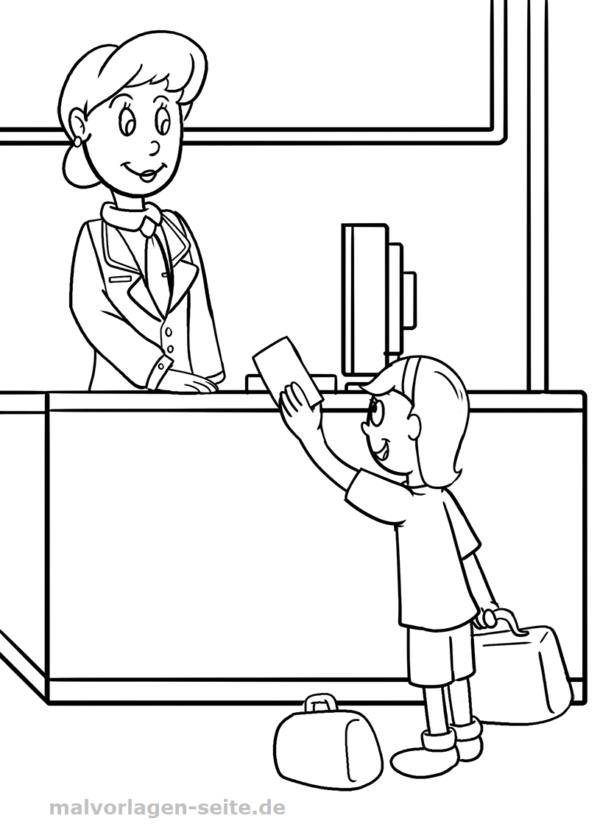 Malvorlage Schule Lehrerin | Malvorlagen - Ausmalbilder | Pinterest
