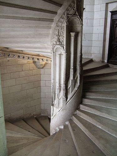 Chaumont (Loir-et-Cher) - le Château - - Escalier à vis
