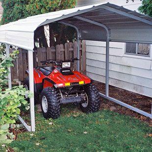 Bailey S Rhino Shelter Steel Carport 7 W X 10 L X 62 H