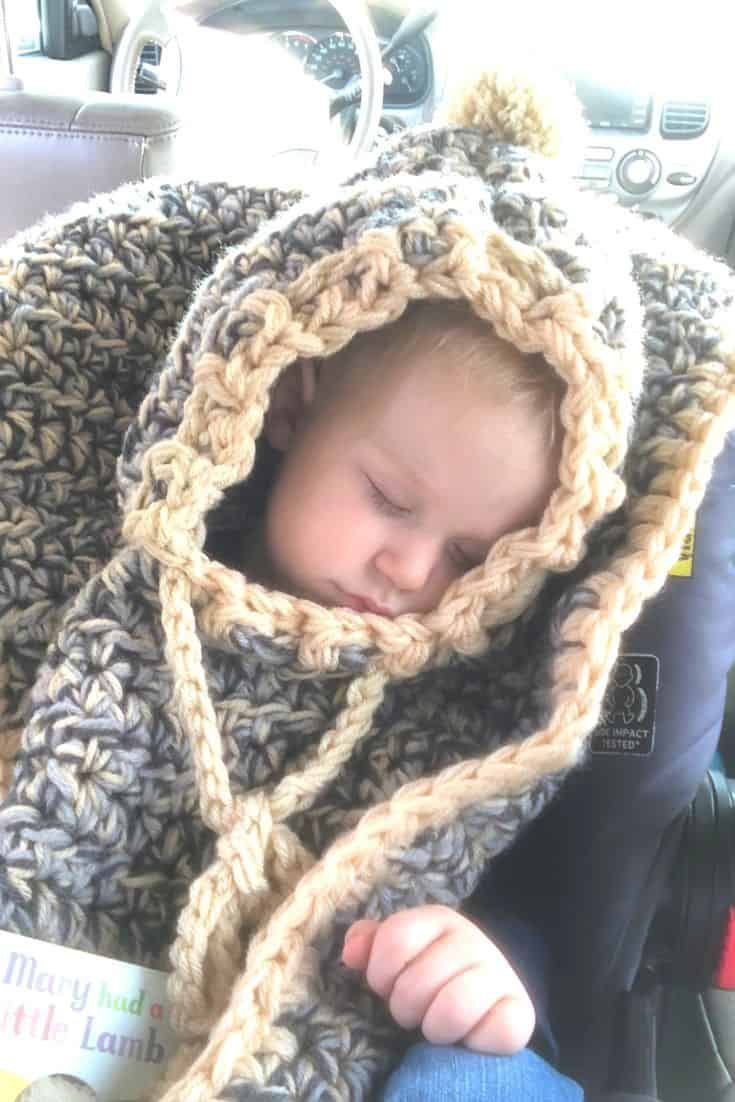 Crochet Car Seat Poncho-a classy, cute, and free tutorial
