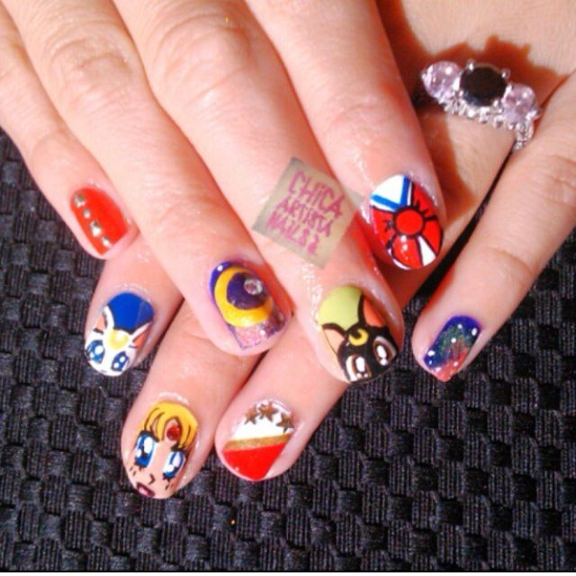 Sailor moon nails #sailormoon | Hair, Nails, Make Up Oh My <3 ...