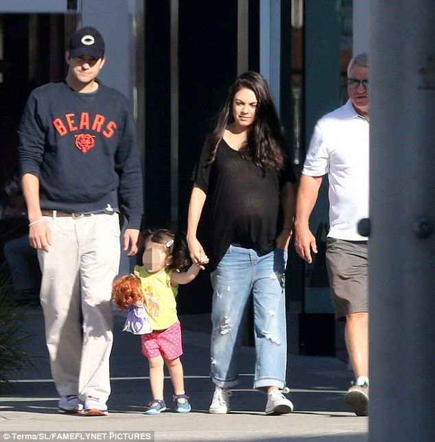 Ashton Kutcher Is Spotted Taking His Family Out For Sunday Brunch