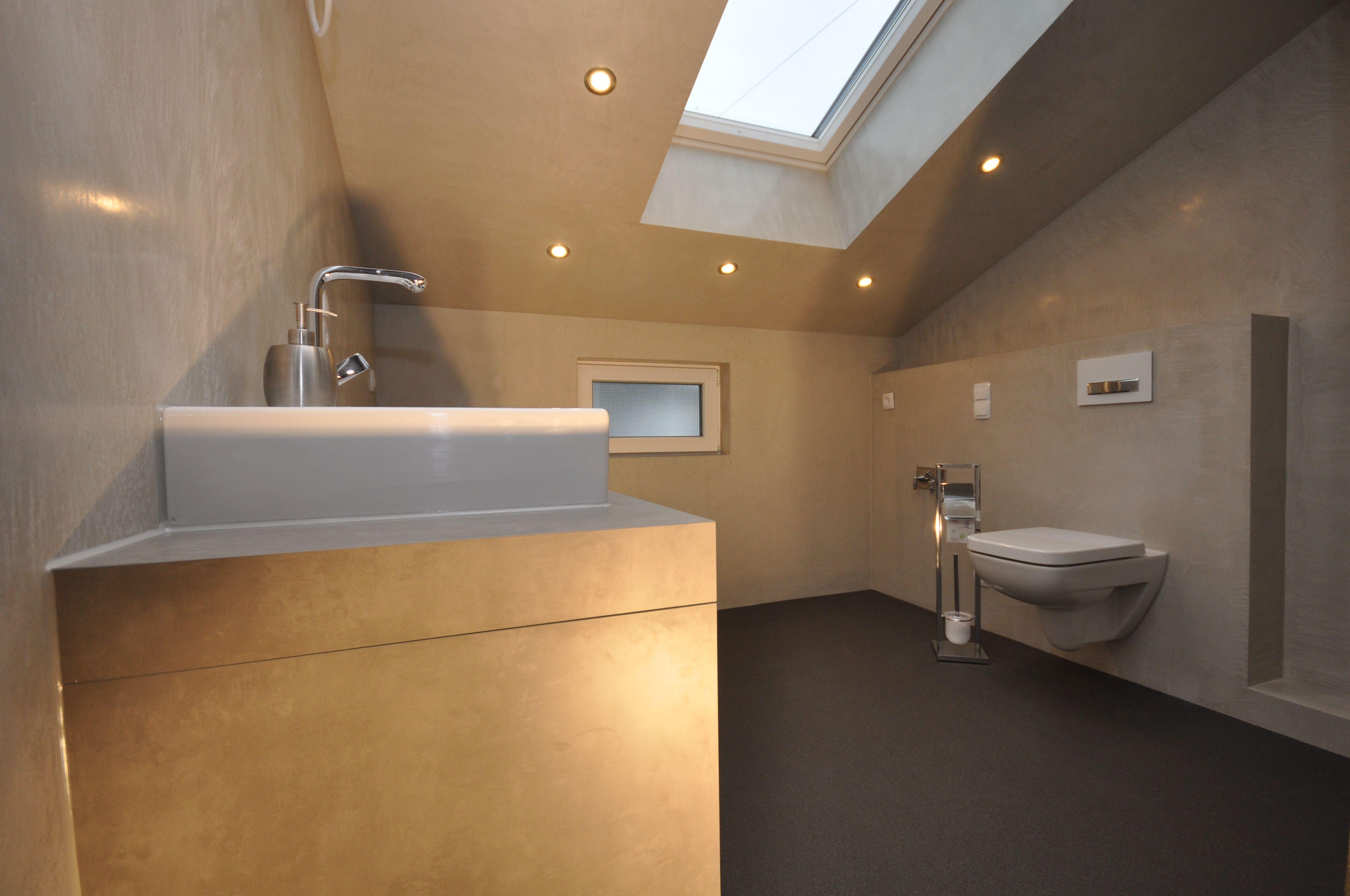 Designbad • Kalk Marmor Putz • fugenlose Wandflächen ...