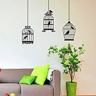 Three Birds Cage Wall Stickers – USD $ 19.99