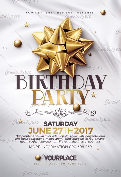 Buy And Edit Classy Birthday Psd Templates  Creative Flyers