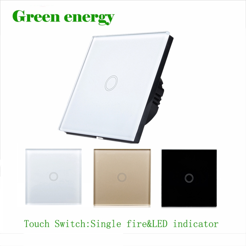 9.48$  Buy here - Touch switch,EU standard touch switch 1 class 1 black touch screen wall switch,Intelligent home remote control switch   #aliexpresschina