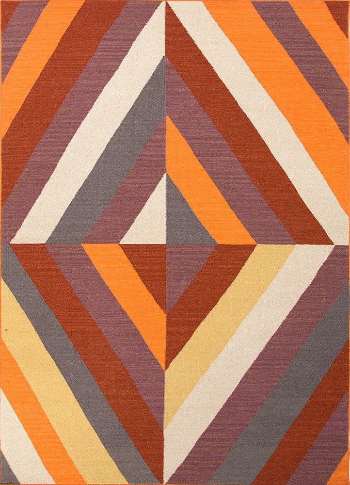 En Casa Tunnel Red Oxide/Light Gold Area Rug from FROY