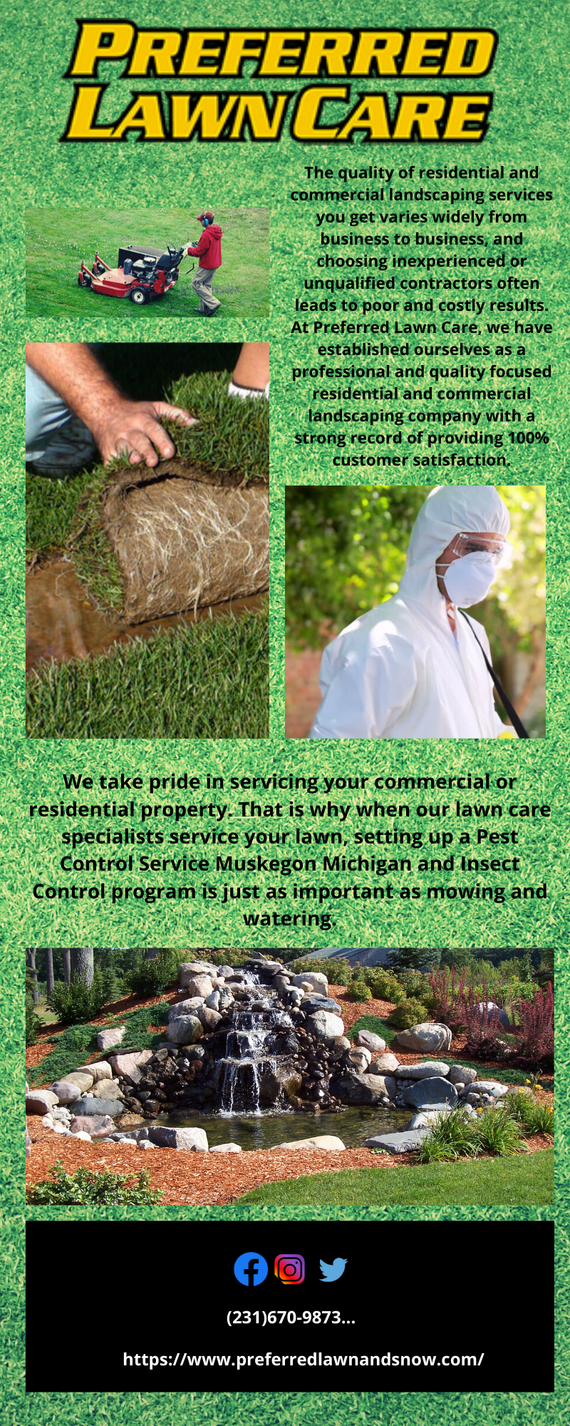 Landscaping Muskegon Michigan In 2020 Lawn Care Commercial Landscaping Landscape