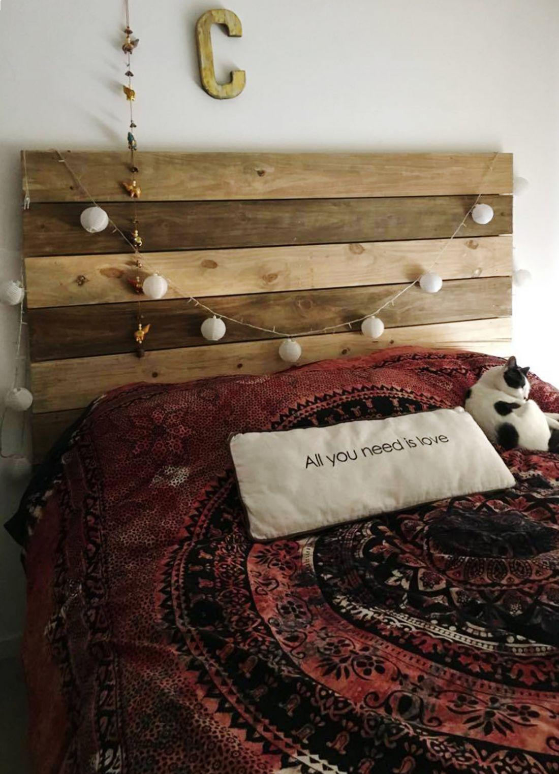 Respaldo Con Tablas Horizontales | Dormitorio, Pino y Antigua