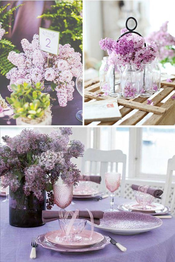 Flores para bodas lilas wedding flowers pinterest for Arreglos florales para boda en jardin