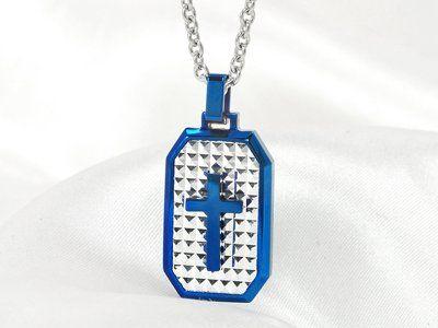 Stainless steel met helder blauw vormt deze blikvanger speciaal voor mannen