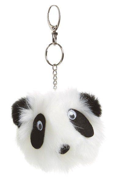 475b66b40643 Topshop Fluffy Panda Key Ring available at  Nordstrom